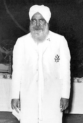 Sant Kirpal Singh after receiving the medal of the Knights of Malta, 2 September, 1963