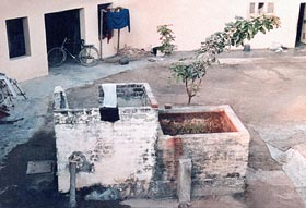 Waterpump at the farm where Sant Kirpal Singh took a glass of water and one seed of rice
