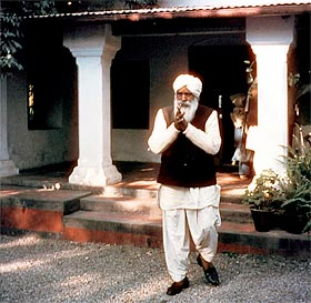 Sant Kirpal Singh in front of His house in Rajpur, Dehra Dun